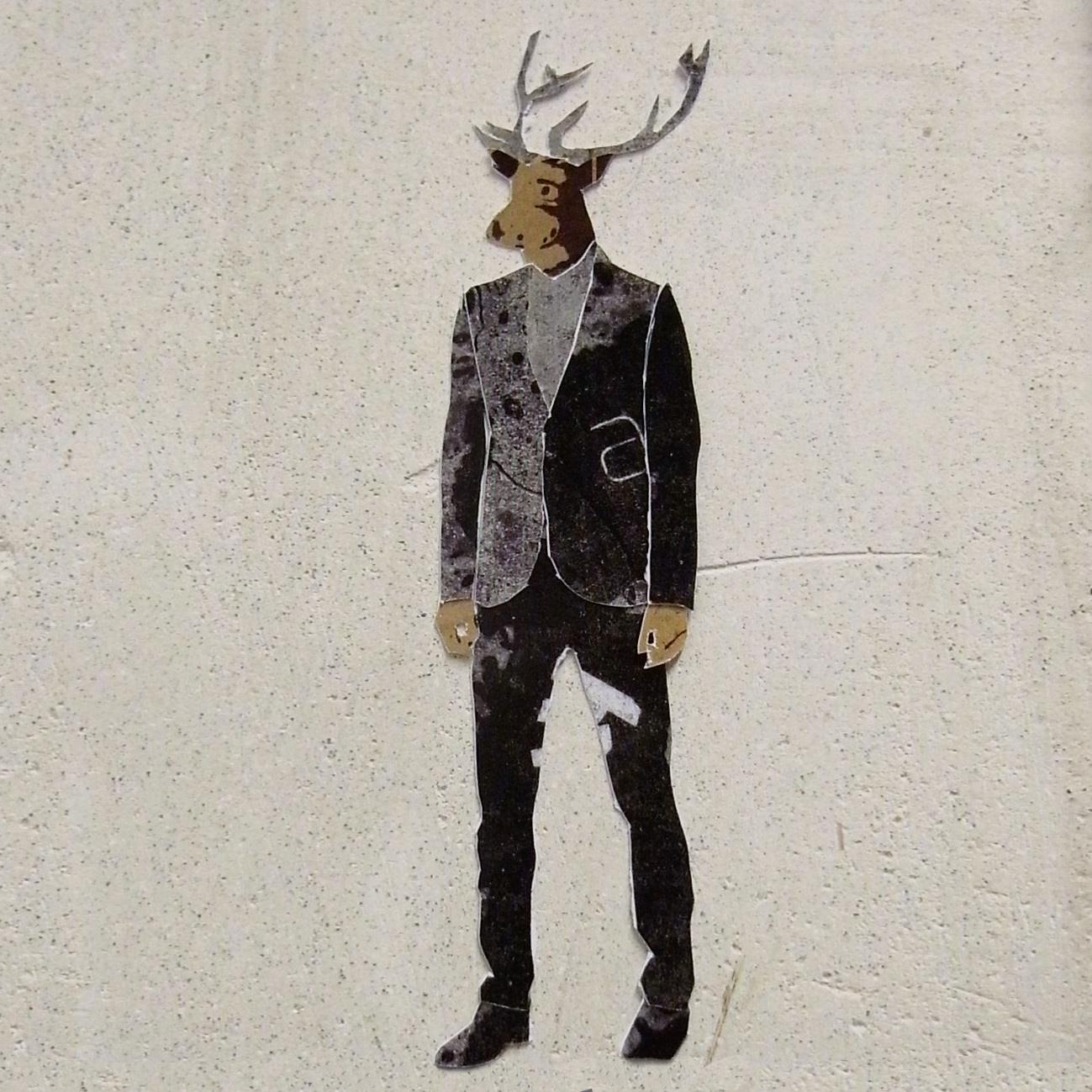 deer in a suit